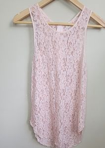 Wilfred Free Pink Lace Stretch Tank Size S…